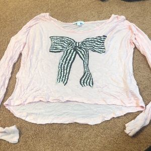 Light pink shirt with bow